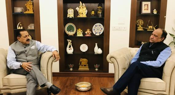 Newly appointed Director of AIIMS, Jammu Dr Shakti Gupta calls on Union Minister Dr. Jitendra Singh and discusses roadmap for its development