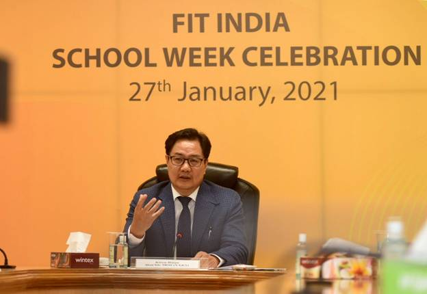 "Shri Kiren Rijiju celebrates 2nd edition of Fit India School Week with the students of Kendriya Vidyalaya; says ""Fitness has become an integral part of the school life"""